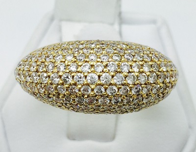 Dome Diamond 18K Gold Ring