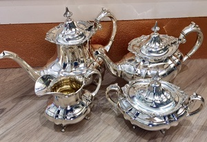 Hampton Court SterlingTea Set by Reed & Barton