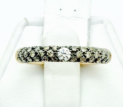 Adolfo Courrier Diamond 18K Gold Band