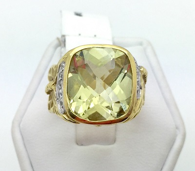 Citrine 18K Gold Ring