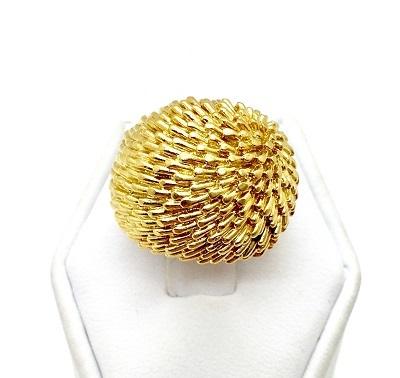 Van Cleef & Arpels Textured 18K Gold Ring