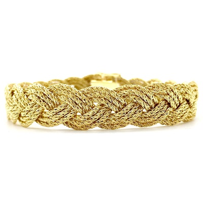 Tiffany & Co. 18K Gold Braided Bracelet