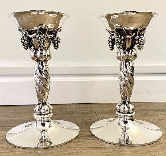 Georg Jensen Sterling Candlesticks #263 B