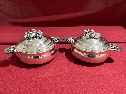 Georg Jensen Sterling Covered Dishes #417