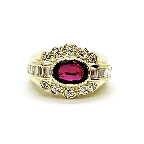 Ruby and Diamonds 18k Ring