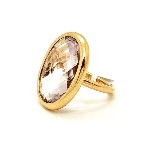 Morganite 18K Rose Gold Ring