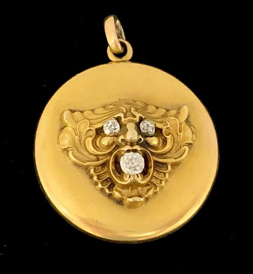 Gargoyle Diamond 10K Locket