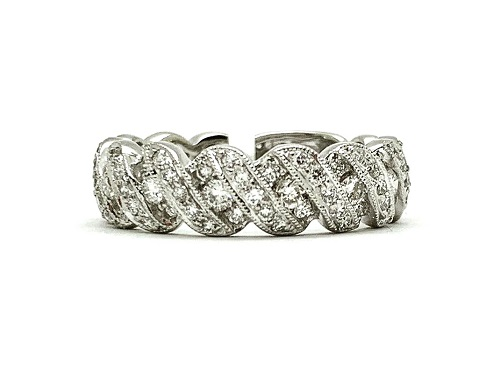 Twisting Diamond Platinum Band