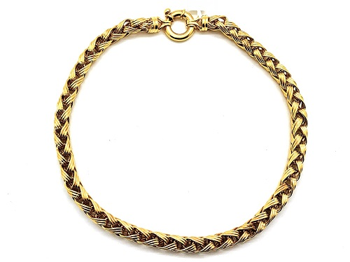 Large Wheat-Link 18k Necklace