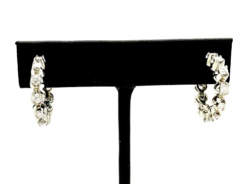 Diamond Hoop 14k Earrings