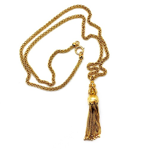 Victorian Tassel 14K Necklace