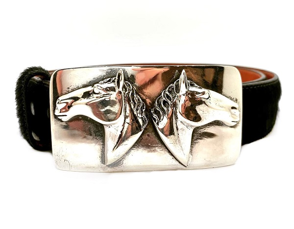 Pat Areias Sterling Horse Heads Belt