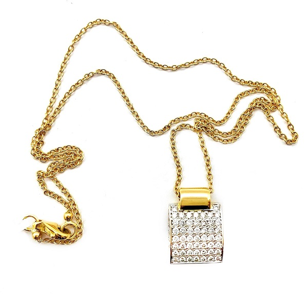 Casa Gi 18K Pave Diamonds Pendant