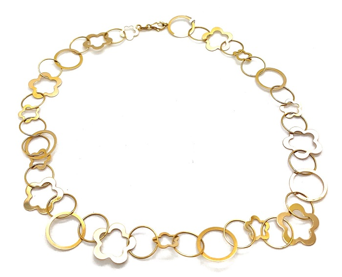 Flower 14K Link Necklace