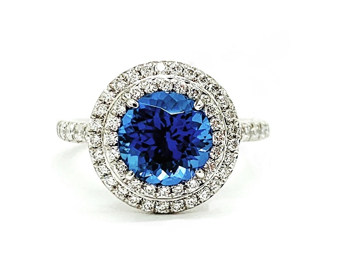 Tiffany & Co. Soleste Tanzanite and Diamond Platinum Ring